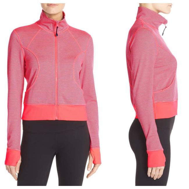 Item - Bright Coral On Point' Crop Active/ Yoga/ Running Jacket Activewear Size 12 (L)