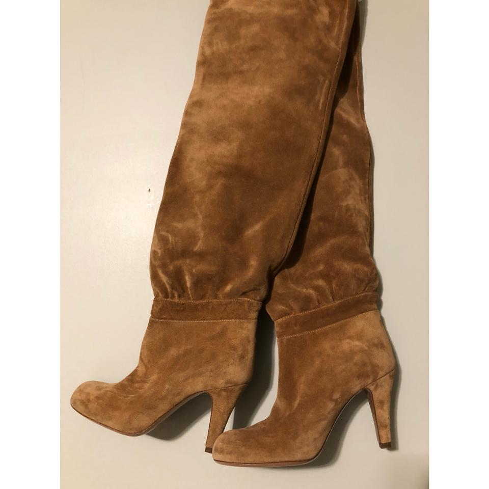 f3e54ea9 Chloé New Lena Slouchy Suede Over The Knee Boots/Booties Size EU 36.5  (Approx. US 6.5) Regular (M, B) 68% off retail