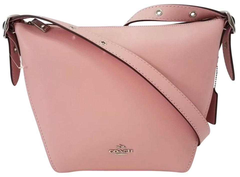 62bf7a642b72 Coach Duffle Shoulder New Small Dufflette 21377 Ice Pink Silver ...