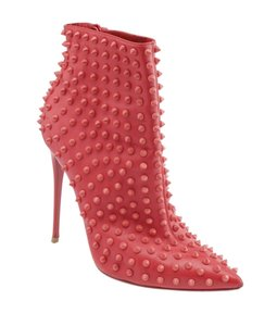Christian Louboutin Ankle Leather Red Pumps