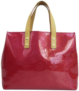 Louis Vuitton Lv Reade Vernis Satchel in darkred