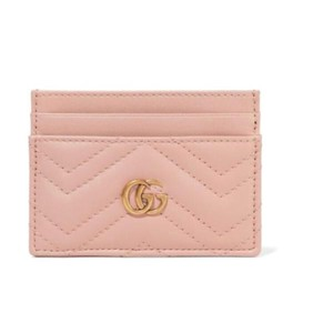 Gucci Marmont quilted leather card holder case