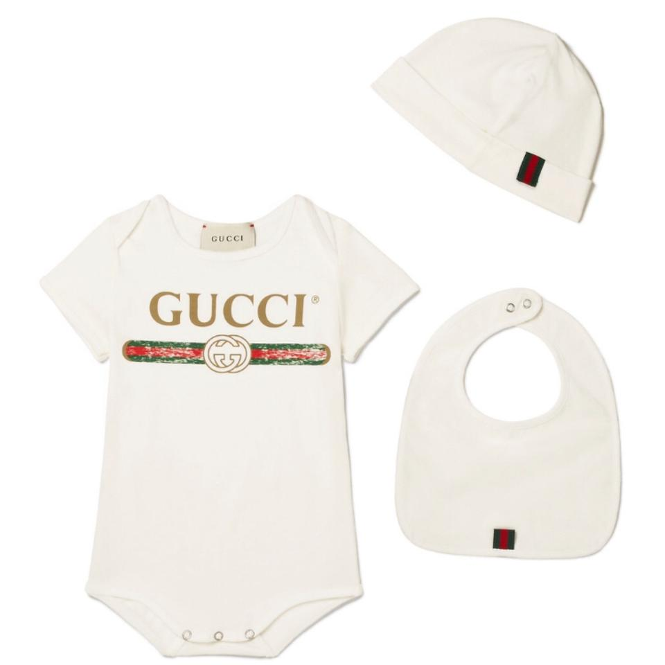 6a770f70 Gucci Baby Logo Printed Baby Grow Hat Bib Set Tee Shirt Size OS (one ...