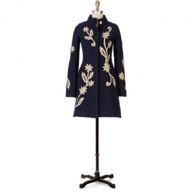 Item - Navy Walking Trails Overcoat S By Sparrow Coat Size 6 (S)