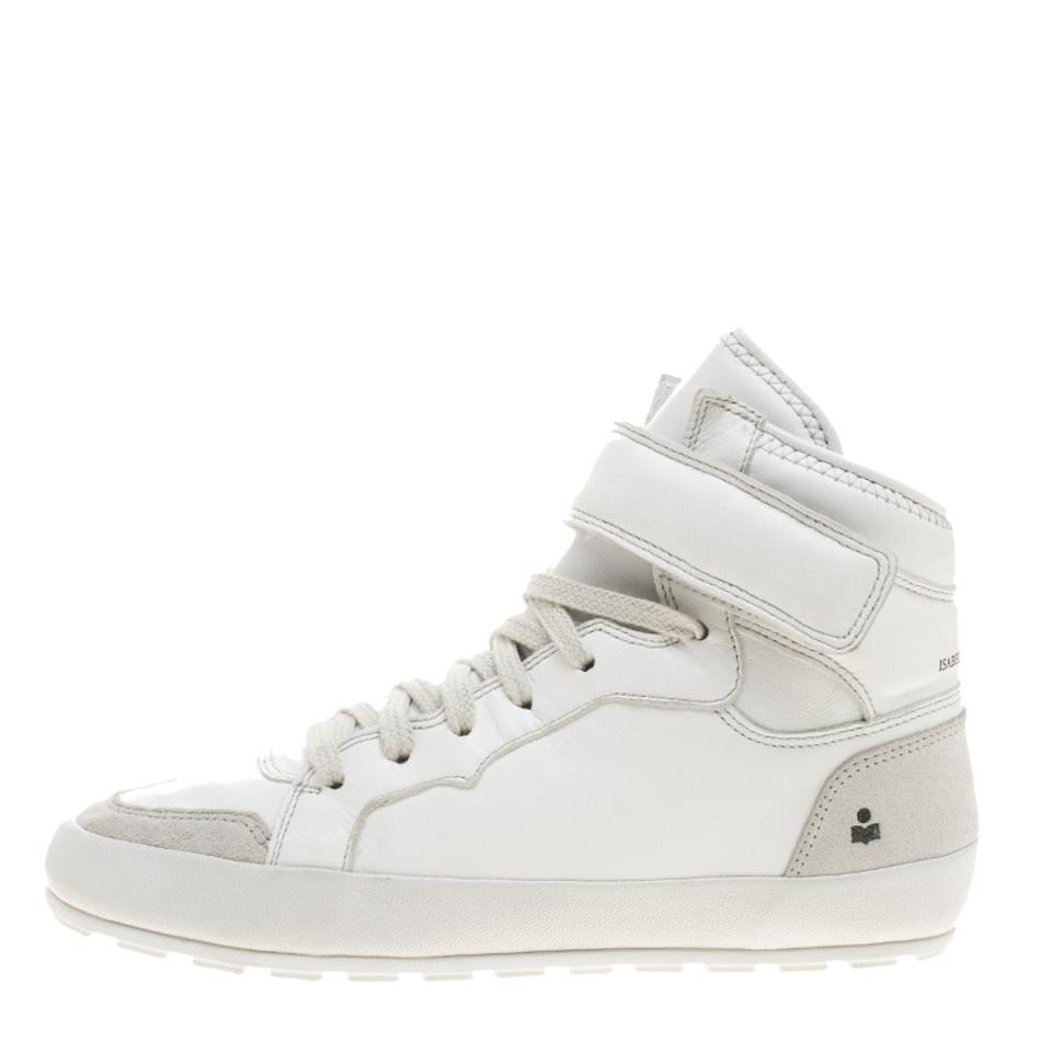Isabel Marant White Leather Bessy High Top Sneakers Sneakers Sneakers Sneakers a5777f