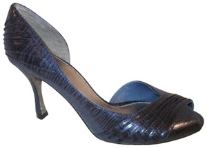 6250830888b Adrianna Papell Formal Evening Open Toe Satin 001 navy Pumps