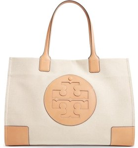 Tory Burch Slouchy Tote Leather Natural tan Beach Bag