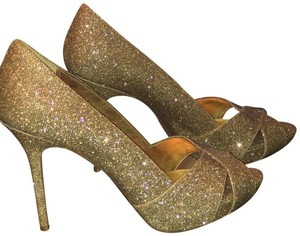 Nina Shoes Gold Bronze Pumps