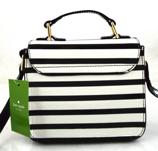 Kate Spade black/cream stripe 961 Messenger Bag Image 3
