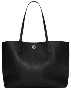 Tory Burch Carryall Leather Tote in Black