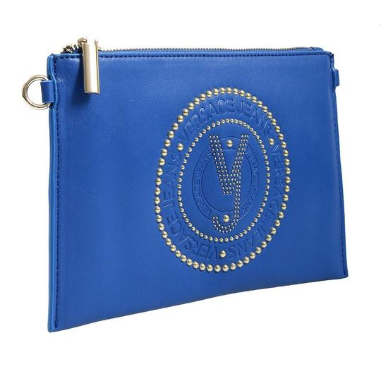 Preload https://img-static.tradesy.com/item/23989395/versace-jeans-collection-blue-faux-leather-clutch-0-0-540-540.jpg
