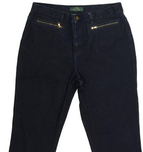 Lauren Jeans Company Capri/Cropped Denim-Dark Rinse