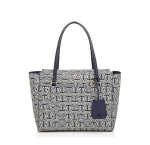 Tory Burch Parker Geo-t Tote in Navy