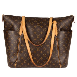 Louis Vuitton Monogram Canvas Leather Totally Tote in Brown