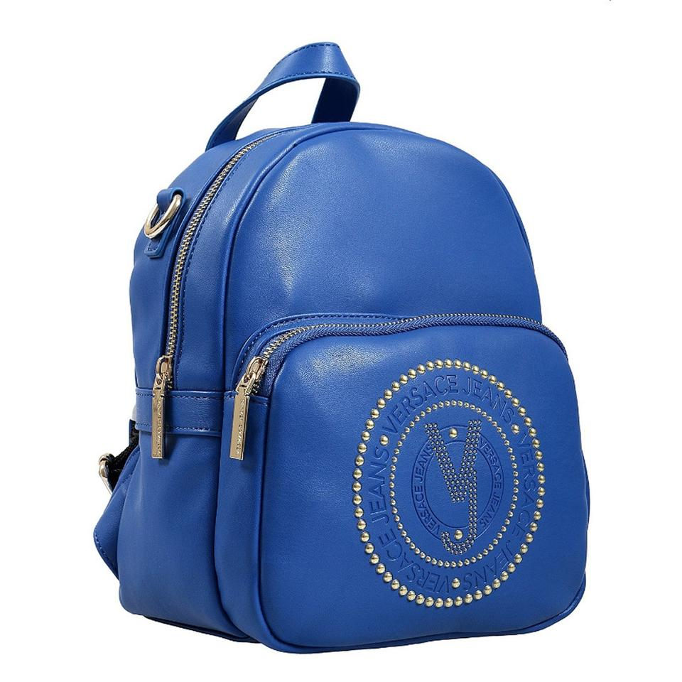 4cad8d0f2f7a Versace Jeans Collection Small Blue Faux Leather Backpack - Tradesy