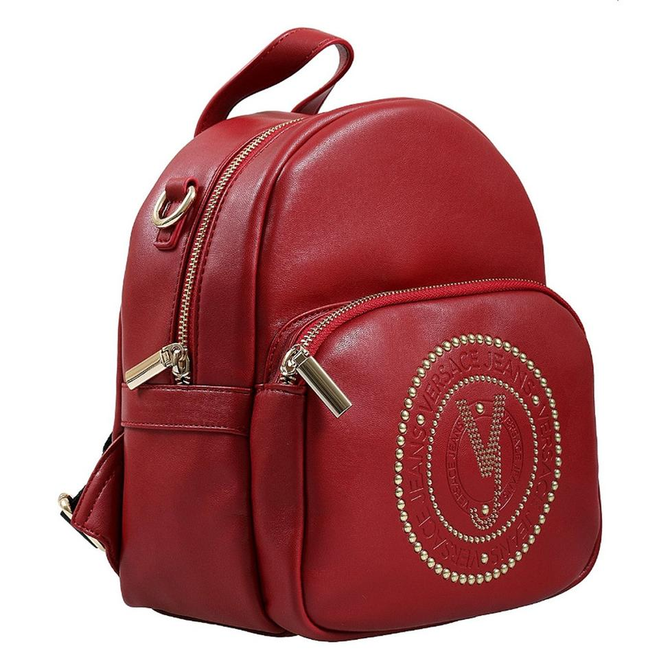 e24cc1112809 Versace Jeans Collection Small Red Faux Leather Backpack - Tradesy