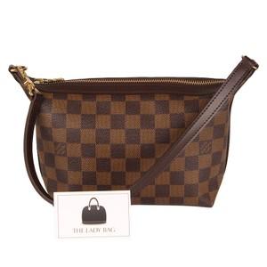 Louis Vuitton Damier Canvas Checkered Limited Edition Classic Wristlet in Brown