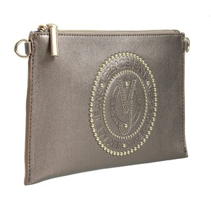 Versace Jeans Collection Gunmetal Clutch