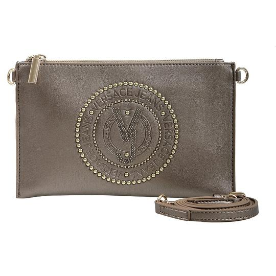 Versace Jeans Collection Gunmetal Clutch Image 1