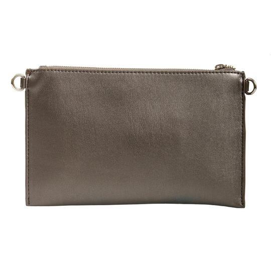 Versace Jeans Collection Gunmetal Clutch Image 3