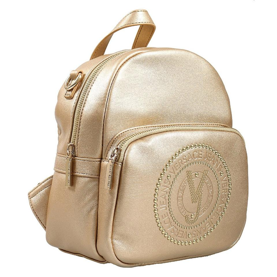 b1f3c6c48c00 Versace Jeans Collection Small Gold Faux Leather Backpack - Tradesy