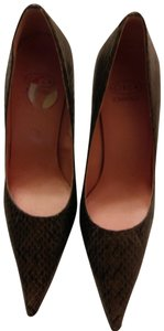 Circa Joan & David Brown snakeskin Pumps