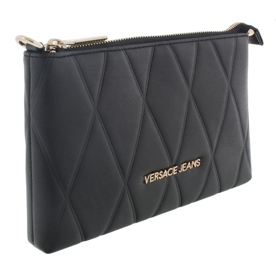 24328fd3349 Versace Jeans Collection Wallet on Chain Dark Grey Black Faux ...