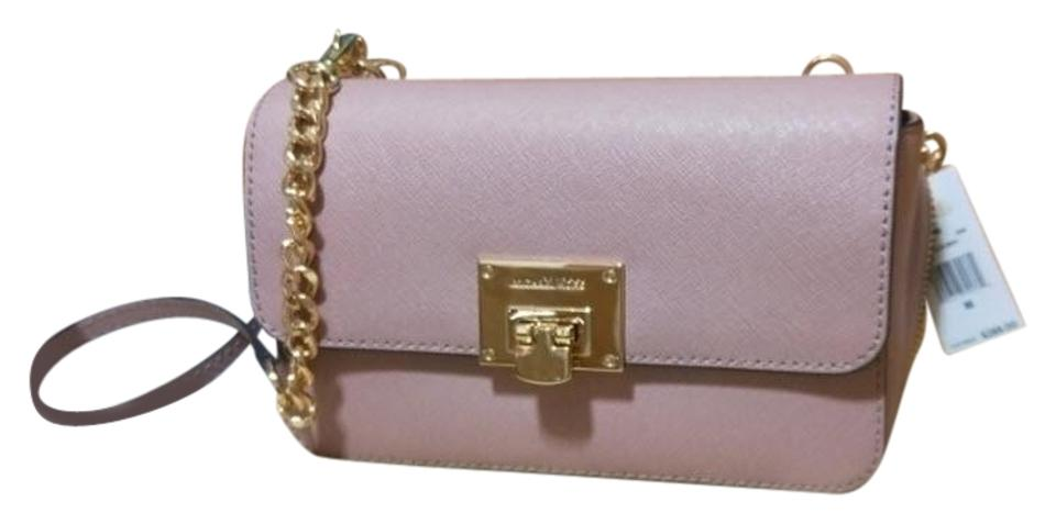 fb57e93dc9f7f Michael Kors Tina Wallet+bag 2 In 1 Clutch Fawn Saffiano Leather ...