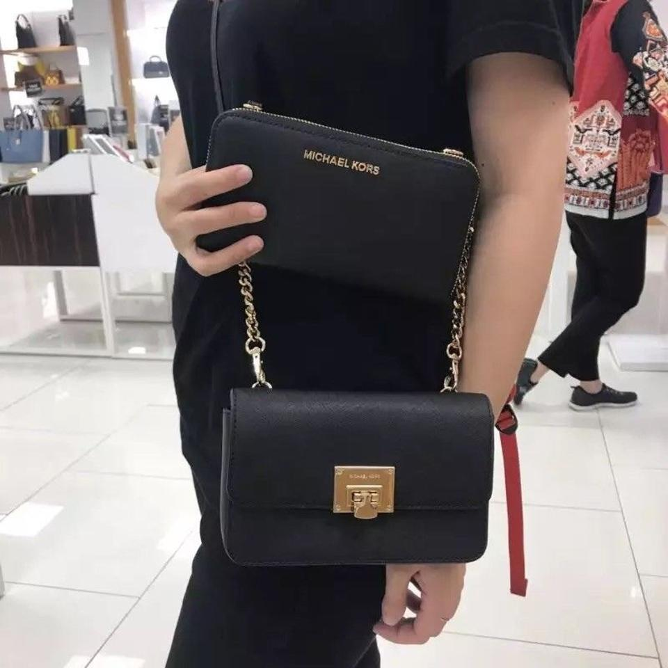 2c7565c208eb Michael Kors Tina Wallet+bag 2 In 1 Clutch Fawn Saffiano Leather ...