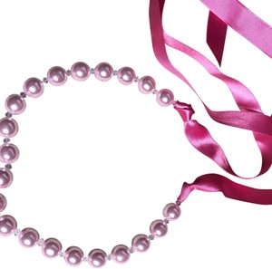 Pookie and Sebastian Pink Pearl Necklace with Sash