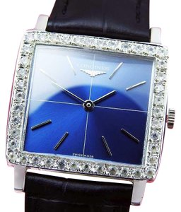 Longines Diamond Bezel Blue Dial Manual Winding watch