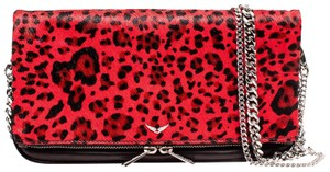 Zadig & Voltaire Leo Clutch Leather Leopard Cross Body Bag