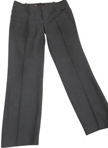 Pink Tartan Low Rise Work Related Straight Pants Grey