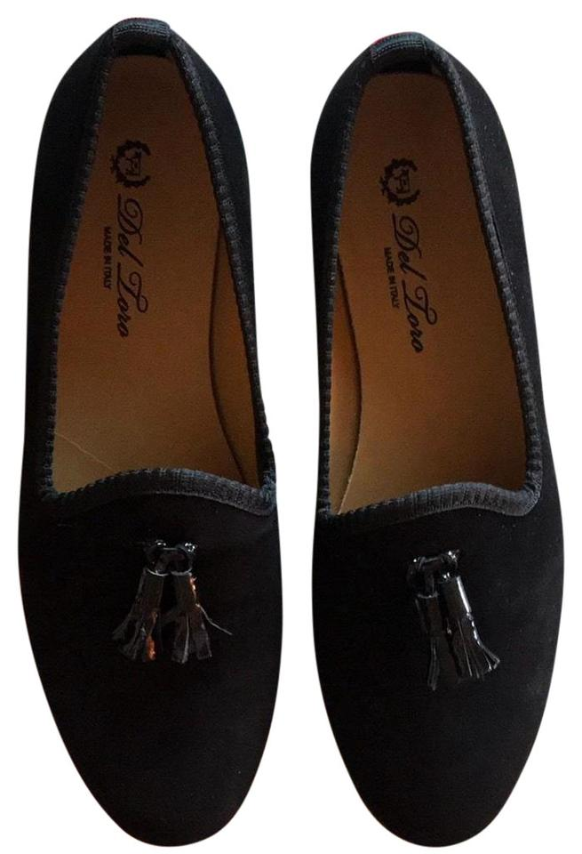 a8792d8a0c Black Suede Slippers Flats