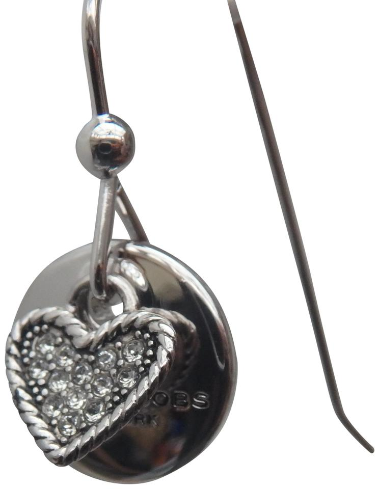 d3fba75b11 Marc by Marc Jacobs Silver-tone Crystal Coin Drop Earrings - Tradesy