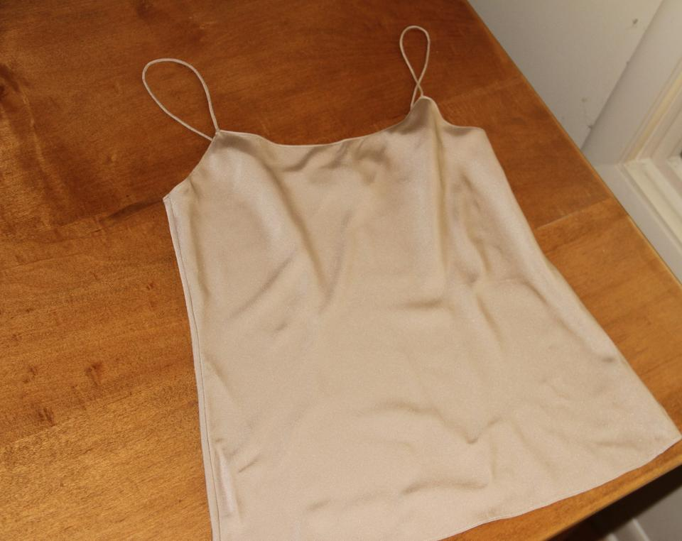 848fab20a2d1d4 Theory Gold Thea Silk Tank Top/Cami Size 6 (S) - Tradesy