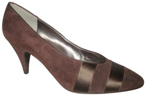Bruno Magli Leather Suede 001 Pbo brown Pumps