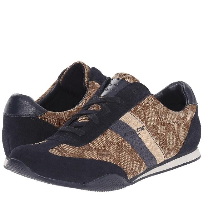 Item - Khaki/Midnight Navy Sig/Suede Kelson Outline Sneakers Size US 8 Wide (C, D)