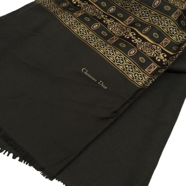 Item - Grey Gold Pattern with Hints Of Burgundy and Black Details Christian Scarf/Wrap
