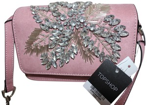 Topshop Ophira Beaded Crystal Sparkle Cross Body Bag