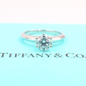053c8c8cb Tiffany & Co. H Diamond Round Solitaire 1.02 Carat Vs1 Engagement Ring