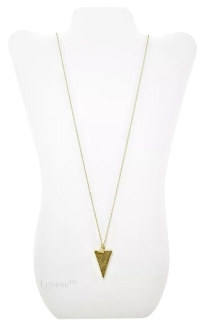Item - Brass Rustic Puffed Spear & Charm Necklace