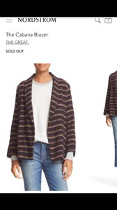 The Great. Current Elliot Madewell J.crew Norstrom multi / cigst Blazer