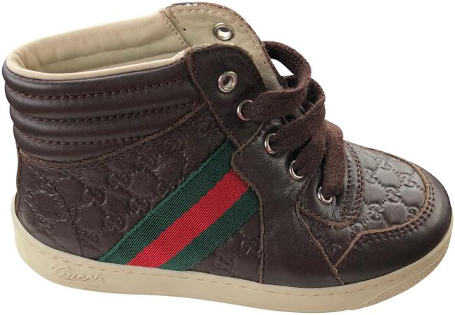Item - Brown Microguccissima Hightop Trainers Gg Sneakers Size US 8 Regular (M, B)