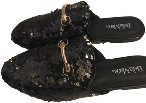 Bella Marie Sequin Black Mules