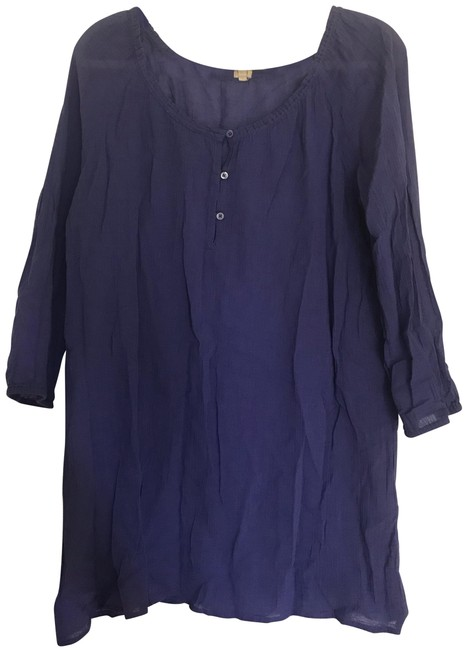 Item - Purple Crinkle Cover-up/Sarong Size 10 (M)
