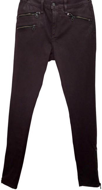Item - Burgundy Coated Skinny Jeans Size 31 (6, M)