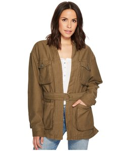 Free People Belted Waist Utility Military Jacket
