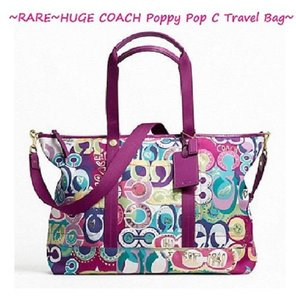purple coach weekend travel bags up to 90 off at tradesy rh tradesy com