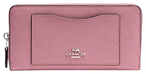 Coach Accordion Pleated Zip Dusty Rose